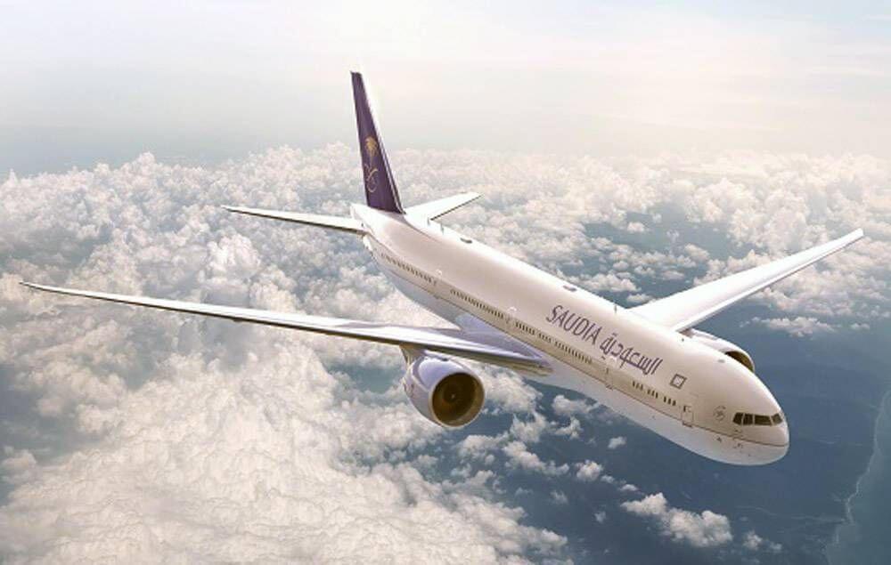 Saudia Airline in Sky